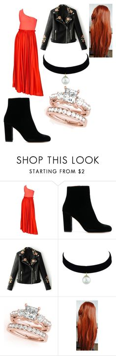 """""""Helen's Party Outfit Fire of Love"""" by lizzie12304 on Polyvore featuring Lanvin and WithChic"""