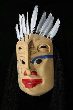 Eagle princess mask. Tahltan, nisga'a, tlingit