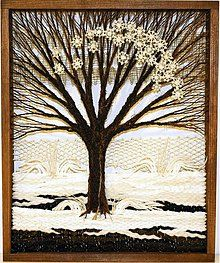 Obrazy - Stromček - zima - 1221172