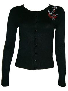 Sale Clearance Living Dead Souls Anchor Cardigan Top Nautical Embroidery  BIG SALE NOW ON AT mouseyessim on ebay