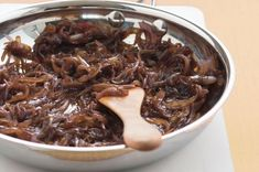 Caramelised Onions | Makes abt 1 cup. 2T olive oil, 3 large red or brown onions, 2T brown sugar, 1-2T balsamic vinegar.