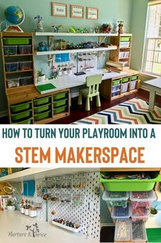 How to Create A Playroom that Fosters Creative Play and Invention Create a makerspace in your playroom that will spark you child's creative play, keep them engaged for hours, and also keep all of those Legos organized! Ikea Playroom, Playroom Organization, Organized Playroom, Boys Playroom Ideas, Toddler Playroom, Classroom Ideas, Trofast Ikea, Ikea Inspiration, Child Room