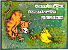 Tim Holtz / Crazy Cats / Crazy Birds