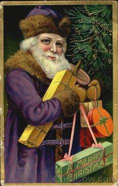 vintage postcards christmas angels sky - Google Search