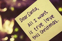 Dear Santa Wish True Love