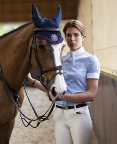 Charlotte Casiraghi in Gucci's equestrian designs. #equine #fashion http://promiseequestrian.com