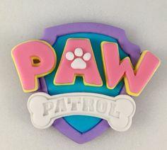 Girly Paw Patrol Inspired Logo Paw Patrol by KedulceSugarDesigns Skye Paw Patrol Cake, Sky Paw Patrol, Paw Patrol Party, Paw Patrol Birthday, 4th Birthday Cakes, 3rd Birthday Parties, 2nd Birthday, Birthday Ideas, Cumple Paw Patrol