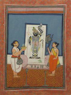 Lot: 17th Century Rajput, South India Original Gouache Minia, Lot Number: 0068, Starting Bid: $150, Auctioneer: Kodner Galleries Inc., Auction: Antiques, Fine Art, Jewelry & Decorative Art, Date: April 24th, 2013 CDT