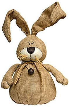 Burlap Bunny with Bell - Primitive Country Spring Easter Rabbit Doll Spring Crafts, Holiday Crafts, Diy Ostern, Burlap Crafts, Diy Crafts, Sewing Art, Country Primitive, Easter Crafts, Easter Bunny