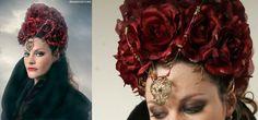 queens headpieces by ingeborg steenhorst, via behance.