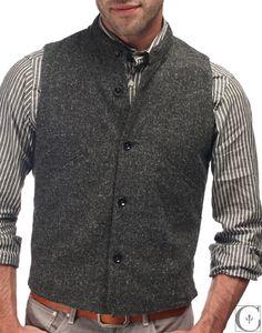 Folk - Waistcoat Flecked Charcoal