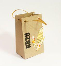 sugarbuffetstudio: Washi Feather Gift Bag