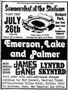 Lynyrd Skynyrd ~ Emerson Lake & Palmer -- This had to be an awesome concert! Rock Posters, Concert Posters, Gig Poster, Band Posters, Music Posters, Rock N Roll Music, Rock And Roll, Nostalgia 70s, Allen Collins