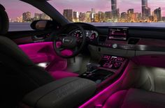 Luxury car pink and black
