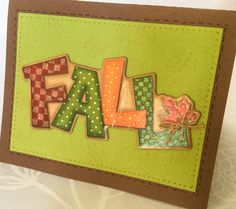 3 handmade fall greeting cards  Happy Thanksgiving  by Wcards