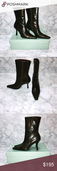 🌺🆕 Women's Cole Haan Nydia Tall Stretch Boots These Cole Haan Nydia Tall Stretch Boots in Dark Chocolate are beautiful, incredibly comfortable, and in EUC. These were my Mom's, although she hardly wore them. Made in Italy. I have the original box as well. Thank you for stopping by my closet. Please let me know if you have any questions. :-) GM Cole Haan Shoes Heeled Boots