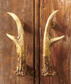 Antler Decor Set Light Switch Outlet Handle Knob Cabin Rustic Hunting Deer  Log | Antlers, Hardware And Elevator Door