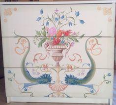 Painted furniture. Olga Ah
