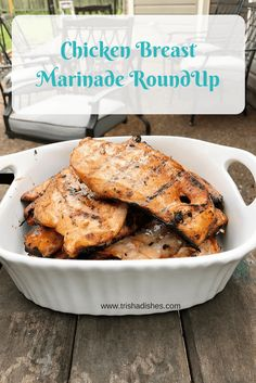 Chicken Breasts Marinade RoundUp is filled with fabulous recipes for Chicken Marinades!