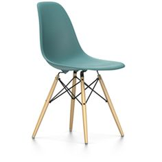Design classic Vitra Eames DSW in ocean blue