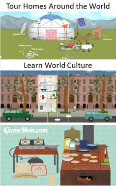 Explore the homes around the globe to learn world culture, architect, living, people, and more. A completely exploratory app for kids to discover and learn at their own pace.
