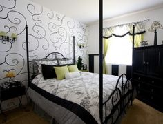 43 Bedrooms Where One Wall Features A Spectacular Wallpaper   Shelterness