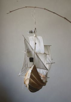 ann wood This inspires me to make a dreamy boat mobile with stars and the moon, like the boat is sailing in the sky