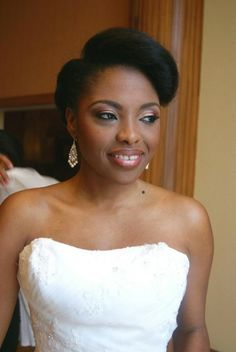 Nigerian Bride With Natural Hair At Her Wedding Makeup Done By Kemi Kings