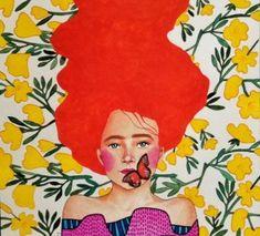 we are free (by hülya özdemir) Illustration Techniques, Collage Illustration, Portrait Illustration, Watercolor Illustration, Art Pictures, Art Images, Define Art, Klimt, Cool Paintings