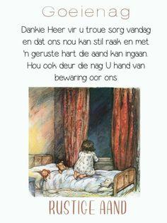 Goeie Nag, Christian Messages, Sleep Tight, Afrikaans, Good Night, Bible Verses, Boss Wallpaper, Sayings, Girl Boss