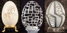 Eggshell carvings