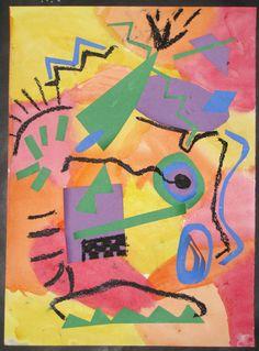 3rd Grade Kandinsky lesson- emphasizes color, shape, composition