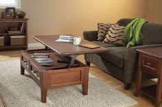 Whittier Wood Furniture - Lift Top Coffee Table