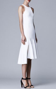 Women's fashion | Elegant white dress | Josh Goot 2015