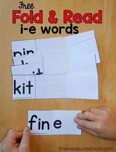 TEACH YOUR CHILD TO READ - Silent e can be tricky to learn! Try this simple activity to help your students learn i-e words. - Super Effective Program Teaches Children Of All Ages To Read. Cvce Words, Phonics Words, Phonics Games, Phonics Reading, Jolly Phonics, Kindergarten Reading, Teaching Reading, Teaching Kids, Kids Learning