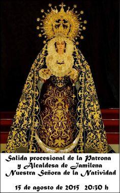 Cruces de Pasión: Jamilena(Jaén).Salida procesional de la virgen de la Natividad