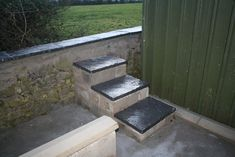 New Compost Bays. Gravel Walkway, Bays, Compost, Small Spaces, Concrete, Old Things, Construction, Building, Garden