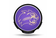 Western Carolina University Acrylic License Plate// Purple /& Chrome Gold