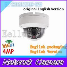 122.00$  Buy here - http://alinjk.worldwells.pw/go.php?t=32550950267 - Free shiiping DS-2CD2142FWD-IWS English version mini wifi dome cctv network camera 4MP, P2P ezviz 1080p IP camera POE 120dB WDR