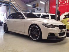 DPE wheels finally mounted on our BMW f30! - September 27, 2013 #carpornracing #dpe #wheels #bmw #f30