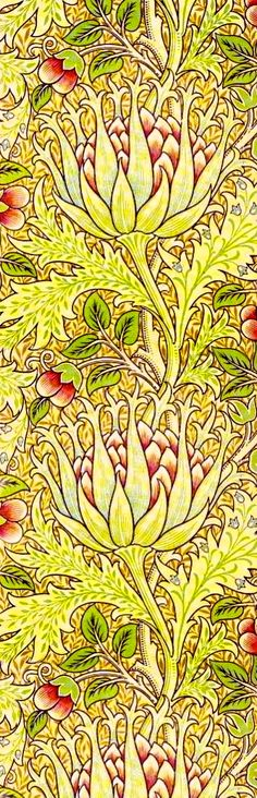 William Morris Art Nouveau Print I want this wallpaper!