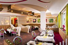 "Romantischer Speisesaal ""PINK"" Loft, Bed, Pink, Furniture, Home Decor, Diner Menu, Homemade Home Decor, Lofts, Rose"