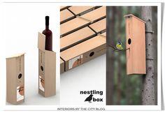 { Smart Packaging : The Nestling Wine Box } Smart Packaging, Wine Case, Birdhouse, South Dakota, Package Design, Logo Inspiration, Objects, Meet, Concept