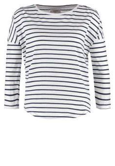 Bluzka z długim rękawem - white/navy