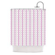 "Julie Hamilton ""Plum Pod"" Purple Gray Shower Curtain"