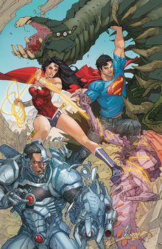 Cyborg, WW & Superman