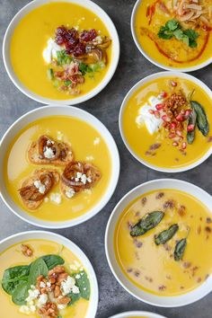 Butternut Squash Soup 8 WAYS @shutterbean