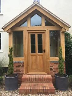 Diplomatic surveyed car porch design Sign In Eingang Porch Uk, Front Door Porch, Front Porch Design, House With Porch, House Front, Front Door Steps, Porch With Steps, Front Doors, Porch Designs Uk