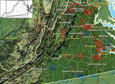 the civil war in color by john guntzelman | Virginia Civil War Battlefields Map