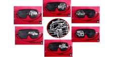 WORLD ON WHEELS machine embroidered sleep mask   'painted with thread'   6 different cars  PICK UP, JEEP, MINI, LIMO, CAMPER AND TRUCK  serie world on wheels sleep mask available at: www.sleepingowl.uk